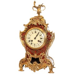 Late 19th Century, French Red Tortoise Shell Mantel Clock