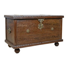 Mid-20th Century Burmese Chest, Blanket Box, Wooden Trunk, circa 1940