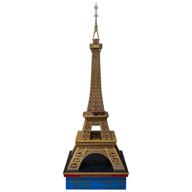Handmade Folk Art Model of the Eiffel Tower, 1950 For Sale