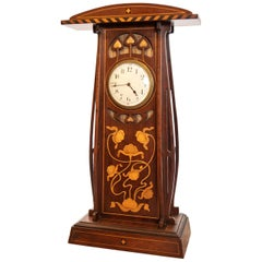 Very Large Wooden Art Deco/Art Nouveau Timepiece Mantel Clock