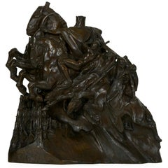 "Art Deco Bronze Sculpture of ""Four Horsemen of Apocalypse"" by Lee Lawrie"