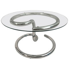 Chrome Anaconda Side Table by Paul Tuttle, 1970s