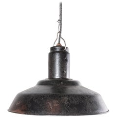 1960s Industrial Weathered Ceiling Pendant Lamp, Light Shades, Steel