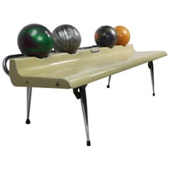 Vintage Bowling Ball Bench by Brunswick