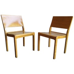 Pair of Vintage Alvar Aalto/Artek Plywood Dining Chair 611