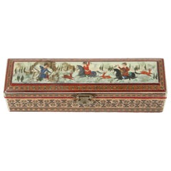 Micro Mosaic Inlaid Trinket Indo Persian Box