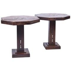 Pair of Art Deco Partridge Wood Side Tables