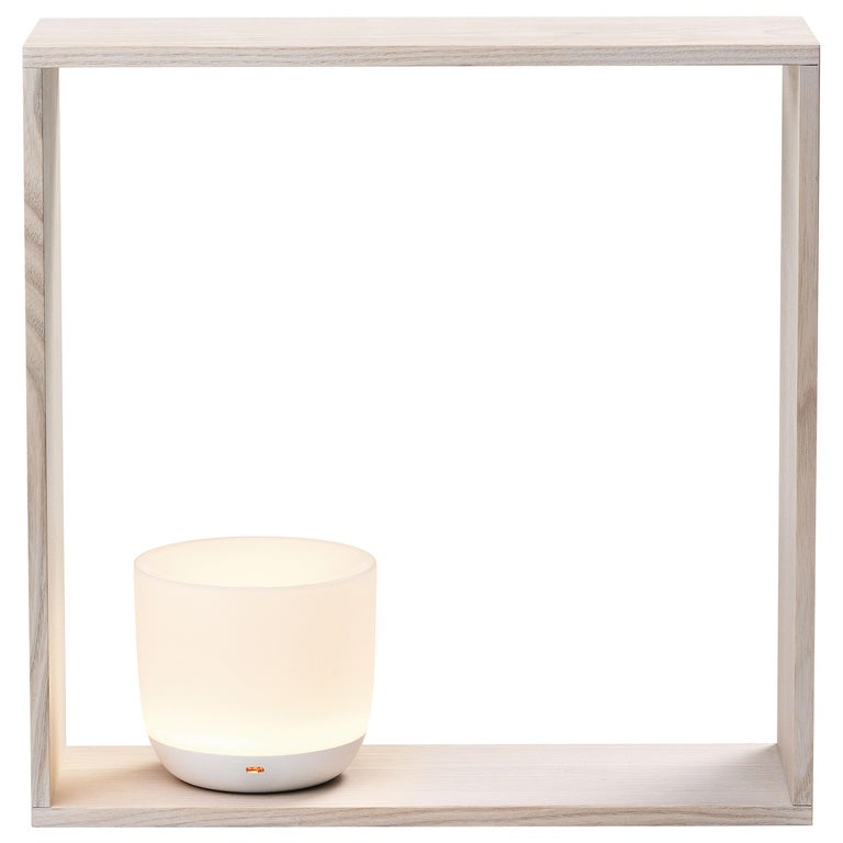 Flos Gaku Wireless Table Lamp in White by Nendo For Sale