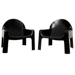 "Gae Aulenti Space Age Lounge Armchair ""4794"" for Kartell, 1974, Set of Two"