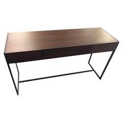 Schumacher Soho Iron Zebrawood Console Table