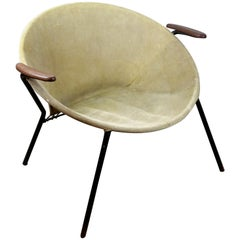 Scandinavian Leather Balloon Easy Chair by Hans Ohlsen for LEA Denmark