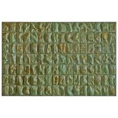 REM Atelier, Melon Skin Ceramic Wall Sculpture, 2018