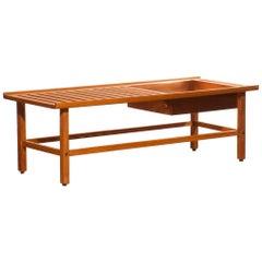 1950s, Beautiful Plant Bench or Coffee Table by Yngve Ekström in Teak