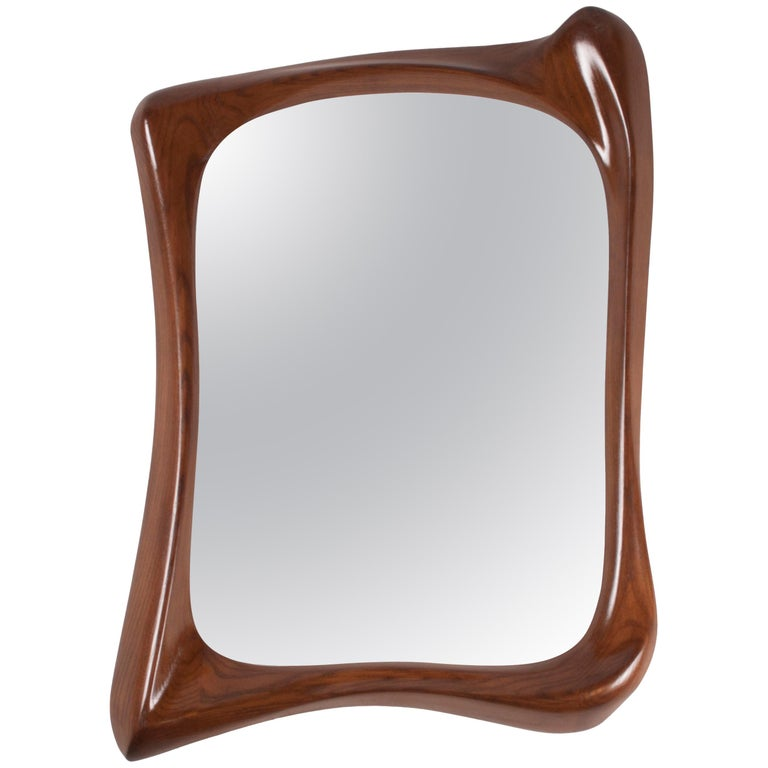 Amorph Narcissus Mirror, Stained Walnut For Sale