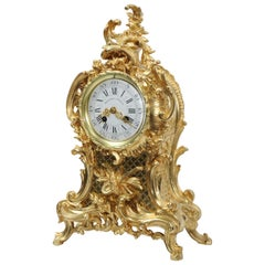 Antique French Gilt Bronze Rococo Clock by Vincenti et Cie, Music
