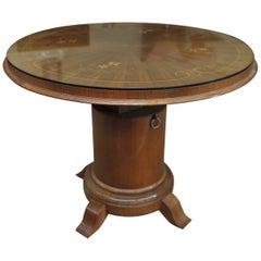 Marqueterie Art Déco Gueridon Round Table, circa 1925