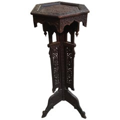 Carved Wooden Indian Plant Stand