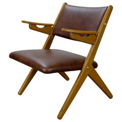 Arne Hovmand Olsen Teak and Oak Armchair by Komfort