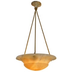Alabaster Pendant Light, Sweden, 1910