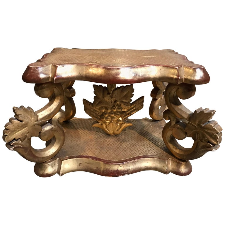 Italian Gilt Carved Stand For Sale