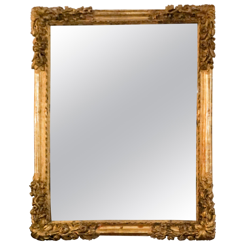 Louis XIV Gold Leaf Mirror