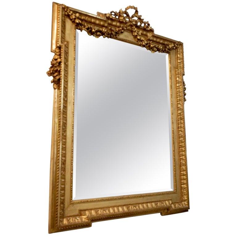 Louis XVI Gold Leaf Mirror For Sale
