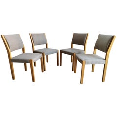Set of 4 Alvar Aalto / Hellevi Ojanen Model 621 Upholstered Dining Chairs