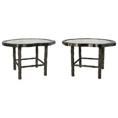 Pair of TWA Rock Crystal Quartz Cocktail Tables by Phoenix