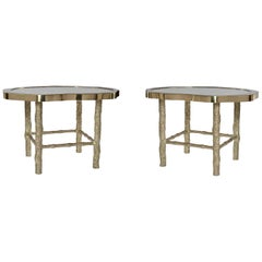 Pair of TWB Rock Crystal Quartz Cocktail Tables by Phoenix