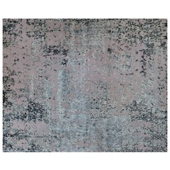 Silver and Blush Abstract Contemporary Rug