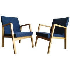 Pair of Stackable Alvar Aalto Upholstered Hallway Chair 54/404