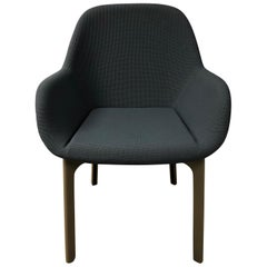Gray upholstered Clap Chair, Patricia Urquiola for Kartell