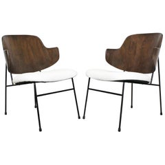 Pair of Mid-Century Danish Modern IB Kofod Larsen Selig Penguin Chairs