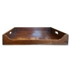 19th Century Large English Mahogany Butler's Tray