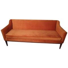 Mid-Century Modern Upholstered Sofa