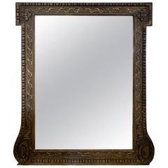 18th-19th Century English Georgian Carved Giltwood Mirror, Style of William Kent
