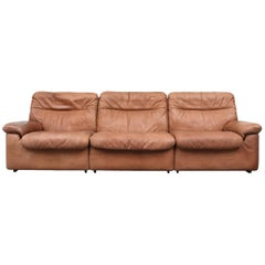 De Sede Natural Leather 3-Seat Sofa