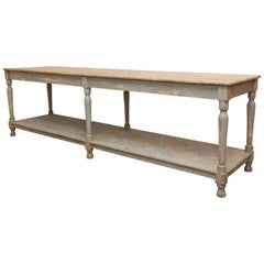Massive French Drapers Table