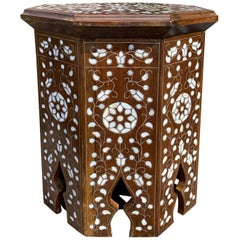 20th Century Moroccan Style Inlaid Drinks Table