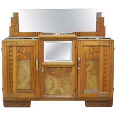 Art Deco Credenza Sideboard French Manner Sue et Mare Dresser Buffet, circa 1930