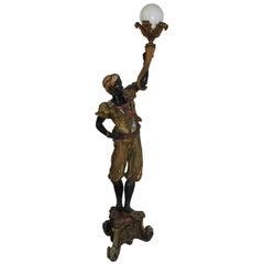 Large Blackamoor Figurative Floor Lamp