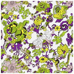'Dragon Flowers' Spring Garden on Smooth Wallpaper