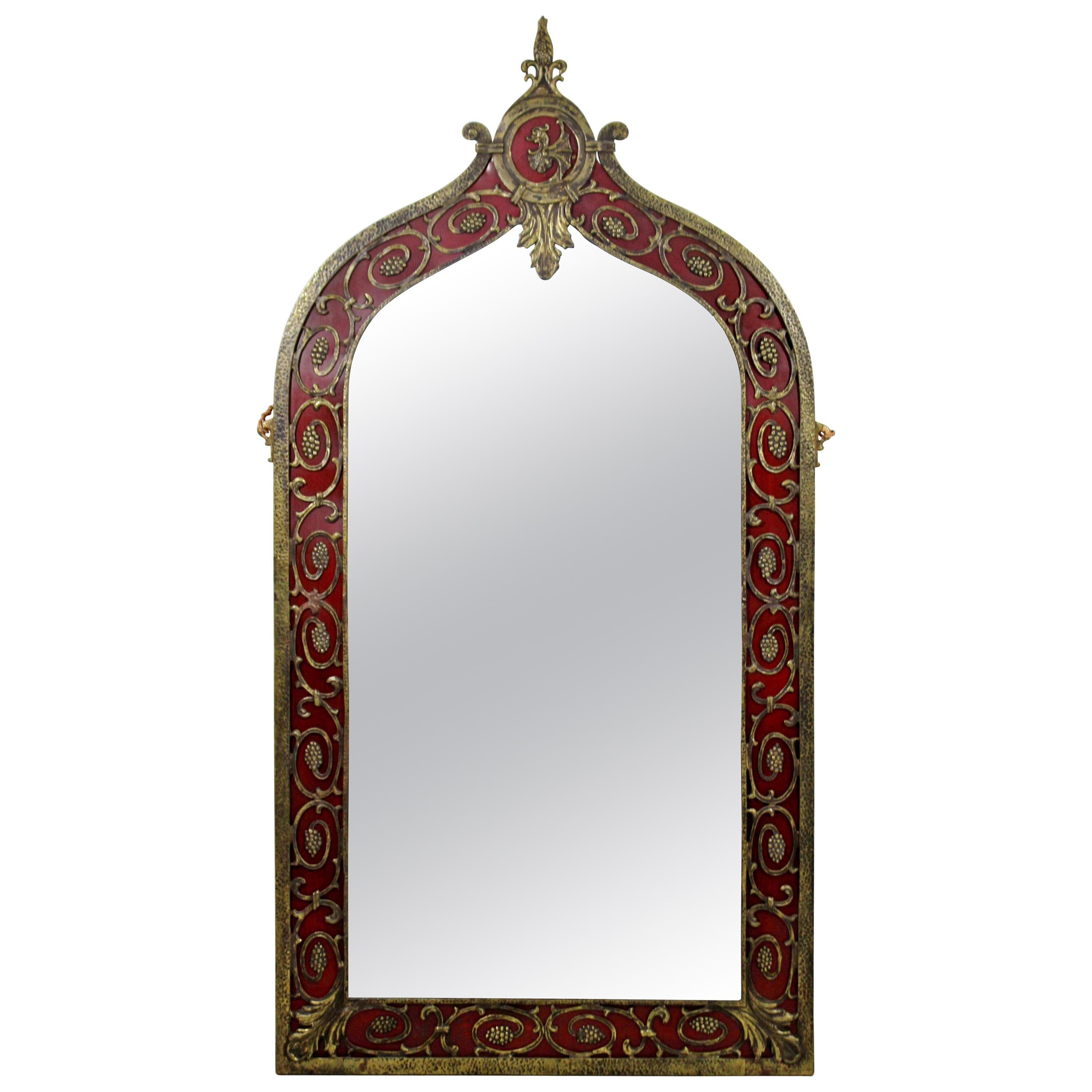 Large french art deco wall mirror 1920s at 1stdibs