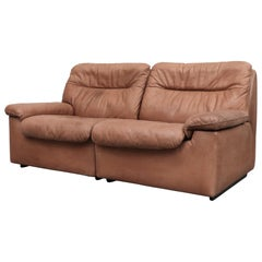 De Sede DS 66 Natural Leather Loveseat