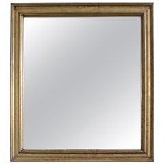 19th Century French Mercury Mirror in Brass Frame