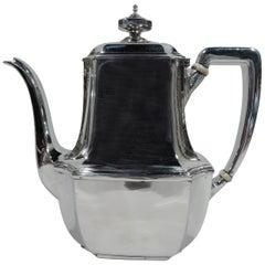Tiffany Sterling Silver Coffeepot in Desirable Hampton Pattern