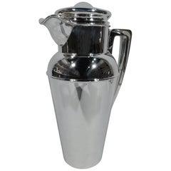 Large Shreve Art Deco Modern Sterling Silver Cocktail Shaker
