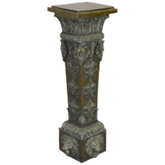 Italian Baroque Style Patinated Bronze Pedestal