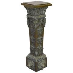 Italian Baroque Style Patinated Bronze Pedestal