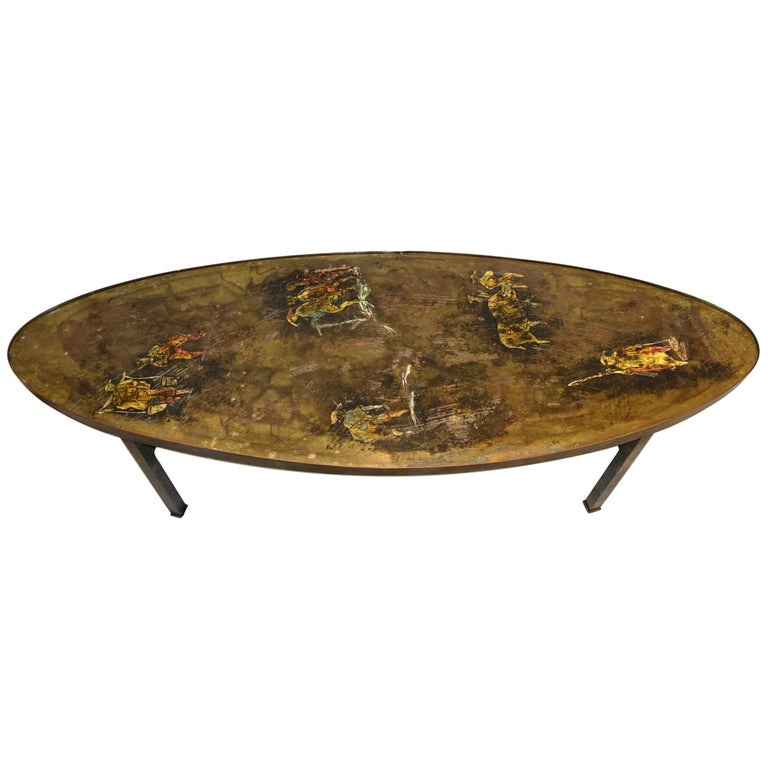 Unusual Oval Laverne Coffee Table For Sale At 1stdibs